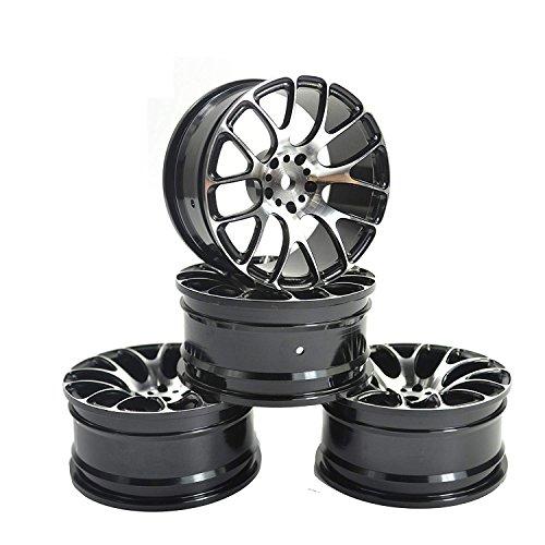 LAFEINA Aluminum Alloy Wheel Rims for 110 RC Drift On-Road Racing Car Touring Upgrade Parts HSP Redcat HPI Himoto Kyosho Sakura Black