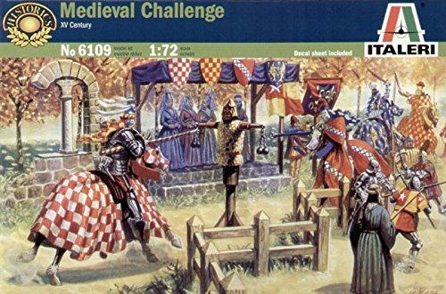 Italeri 172 Medieval Challenge Jousting Plastic Figure Model Kit 6109