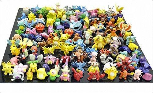 Jacks 1 SET PER Lots 144pcs Pokemon Action Figures 2-3cm Pokemon Pikachu Monster Mini Plastic Figures Small Size Gift Multicolor 144pcs