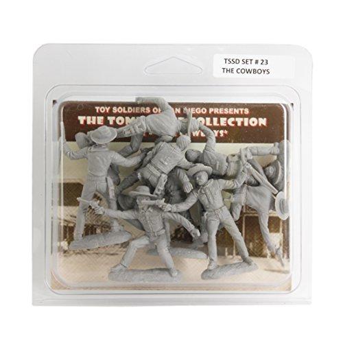 TSSD TOMBSTONE Cowboy Gunfighters 8 GRAY 132 Plastic Figures