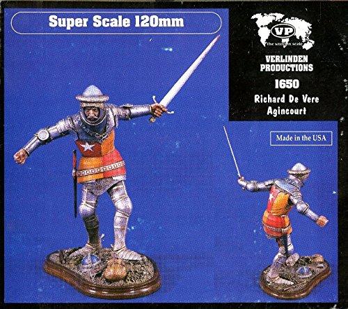 Verlinden 116 120mm Richard de Vere Agincourt Resin Figure Kit 1650
