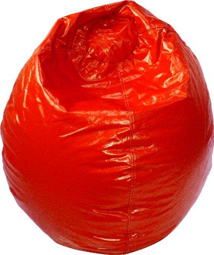 Gold Medal 30012809807 X-Large Wet Look Vinyl Bean Bag Red