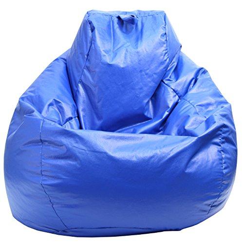 Gold medal Tear Drop Wet Look Vinyl Bean Bag Large Blue