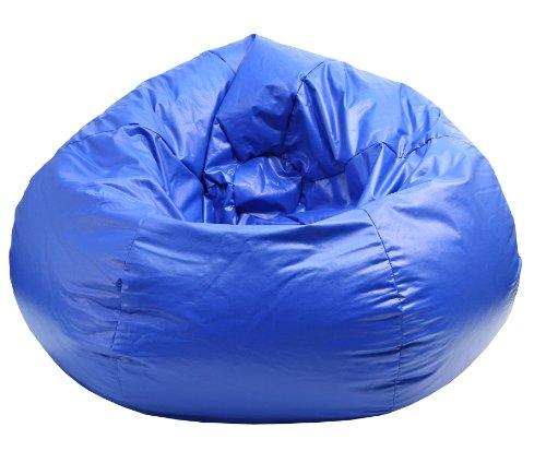 Gold medal Wet Look Vinyl Bean Bag MediumTween Blue
