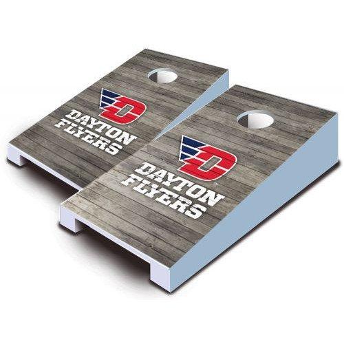Dayton Flyers Tabletop Cornhole Boards Distressed Wood Bean Bag Tailgate Toss Game Mini Miniature