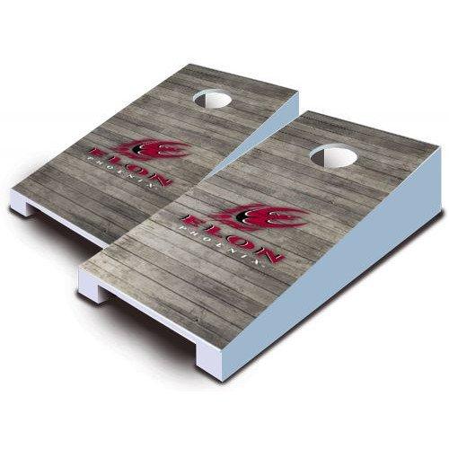 Elon Phoenix Tabletop Cornhole Boards Distressed Wood Bean Bag Tailgate Toss Game Mini Miniature