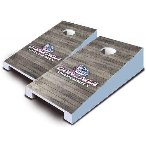 Gonzaga Bulldogs Tabletop Cornhole Boards Distressed Wood Bean Bag Tailgate Toss Game Mini Miniature