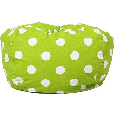 Foam Chair PinkClassic Garbadine Bean Bag Polka Dots - Green