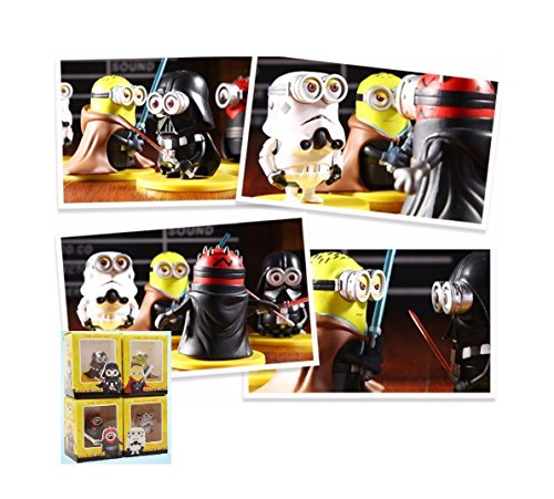3D Eye Minion Toys 4pcslot Minions Cosplay Star War Model 8cm Action Figure Toys