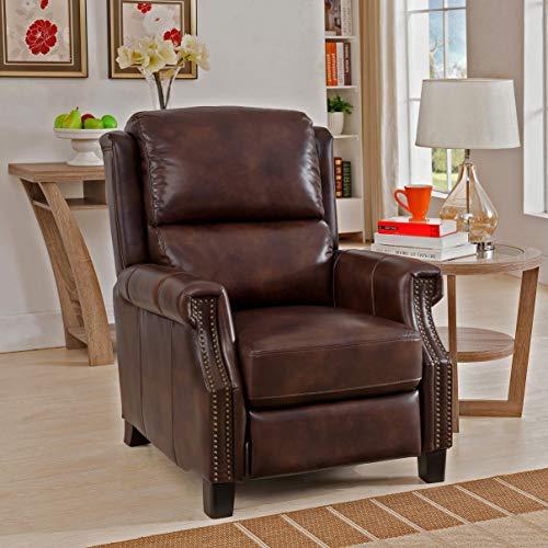 Sofawebcom Rivington Brown Premium Top Grain Leather Recliner Chair