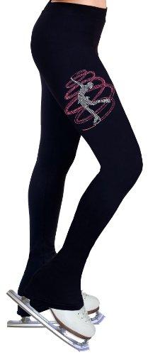 Figure Skating Practice Pants with Rhinestones R257RP Adult Large