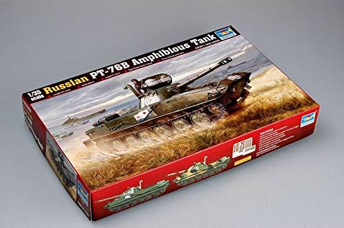 Trumpeter 135 Russian PT-76B Amphibious Tank Model Kit