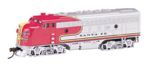 Bachmann Industries EMD F7-A Diesel Locomotive DCC Equipped Santa Fe War Bonnet Train Car N Scale