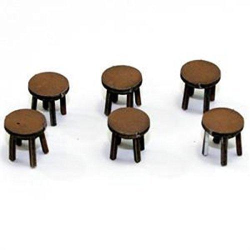 28mm Furniture Light Wood Stools A