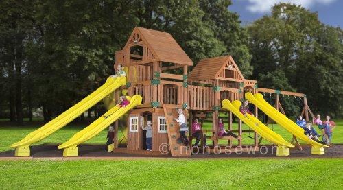 Backyard Discovery Safari All Cedar Wood Playset Swing Set