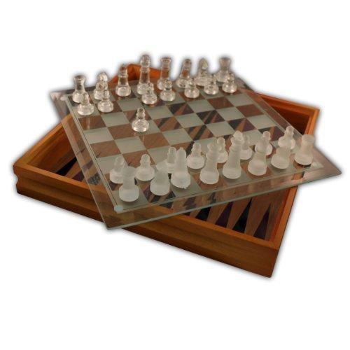 Cardinal Industries 82-237 Classic Wood Glass 7-Game Set