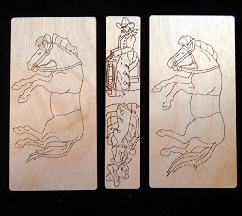 Saddle the Horses Puzzle Wood Set - Sam Lloyd and Pt Barnum 1872