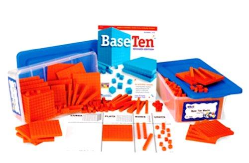 ETA hand2mind Orange Plastic Base Ten Blocks Place Value Set