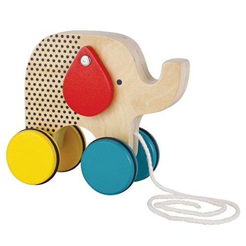 Petit Collage Jumping Jumbo Elephant Wood Pull Toy