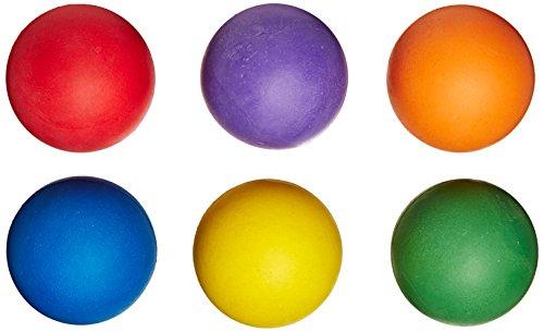 360 Athletics Rainbow Sponge Rubber Balls 6-Pack