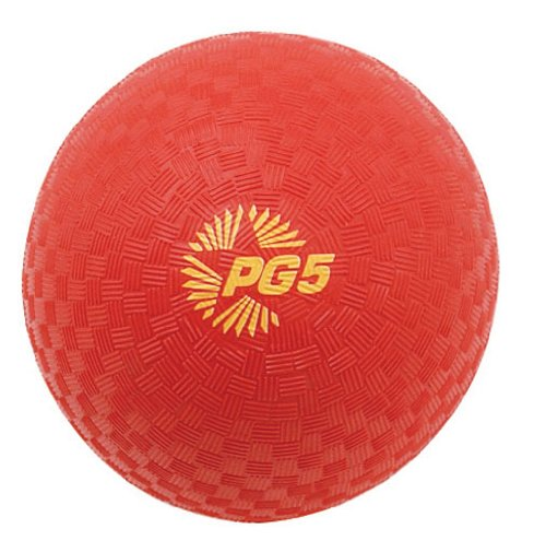Champion Sports Playground and Kickball Nylon 5-Inch Red Ballsthe ball needs inflation