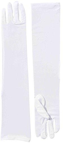 Forum Novelties 214350 Long Nylon Adult Gloves - White