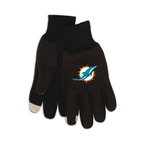 McArthur MCA-R1315-TECH Miami Dolphins NFL Technology Gloves - Pair