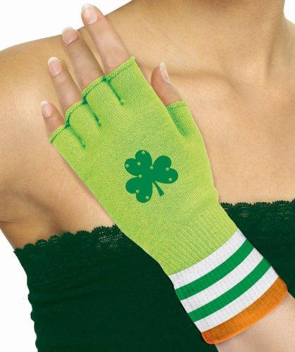 Shamrock Fingerless Gloves per pair