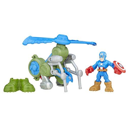 Playskool Heroes Super Hero Adventures Jungle Copter Captain America