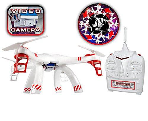 World Tech Toys 24GHz 45 Ch Supernova SPY Quad-Drone Camera Remote Control Quadcopter Vehicle