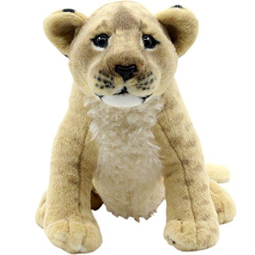 TAGLN Stuffed Animals Lion Toys Plush Tiger Leopard Sitting 10 Inch Lioness