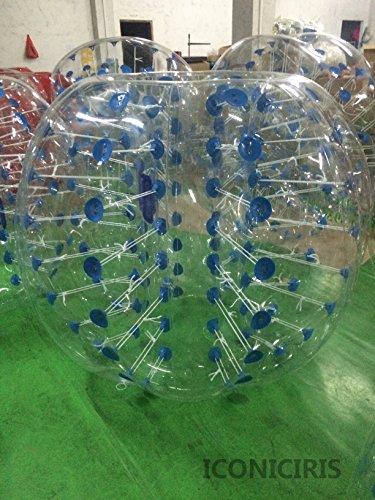 Free Shipping Inflatable Bumper Bubble Balls Body Zorb Ball Soccer Bumper Football Human Hamster Ball Transparency Panel_bluedot Diameter15M5FT