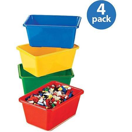 Tot Tutors - Primary Colors Small Storage Bins Set of 4