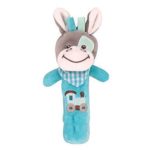 khkadiwb ToysRattle Plush Donkey Animal Baby Hand Shake Bell BB Rattle Squeaker Stick Education Toy - DonkeyEco-Friendly Non-Toxic Safe to Use Lovely