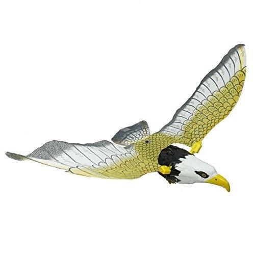 TOOGOOR Children Black Electrical Flying Light Sound Eagle Toy