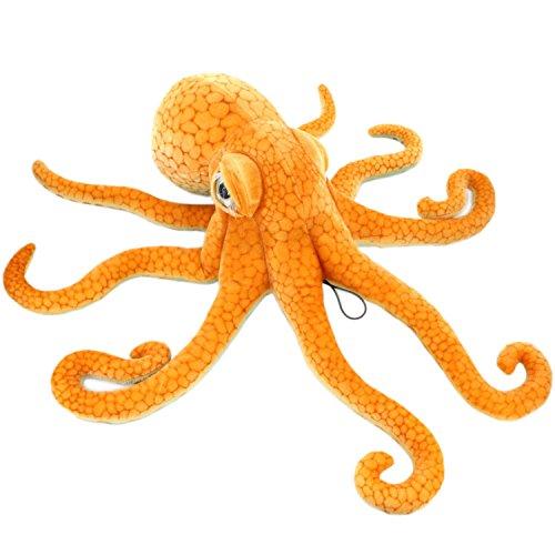Jesonn Realistic Soft Stuffed Marine Animals Toy Octopus PlushOrange216 or 55CM1PC