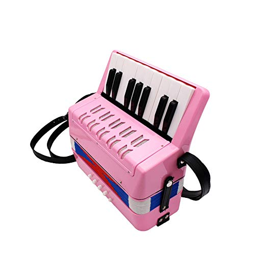 Baby Toy Accordion Kids Accordion 17 Keys Button Accordion Musical Toy Easy To Play Kid Instrument For Children Over The Age Of 5 for Early Childhood Development  Color  Pink  Size  23x10x23cm