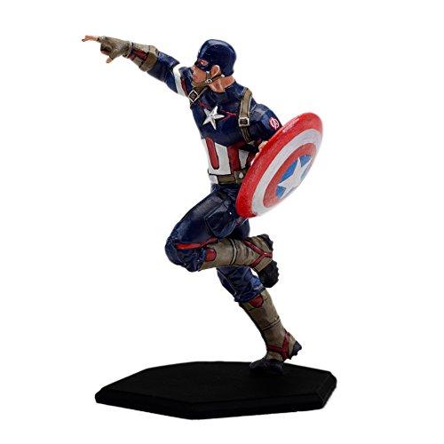 Factory Entertainment Marvel Comics Age Of Ultron Metal Miniature Captain America Statue