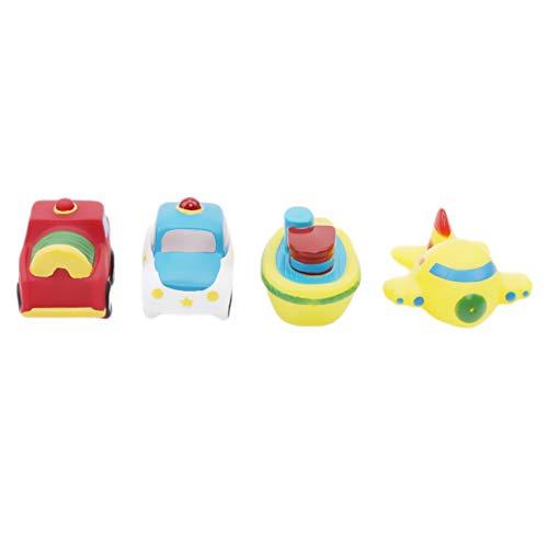 LALANG4PCS Baby Water Spray Classic Bath Toys Soft Baby Bathroom Wash Cute ToyTransportation