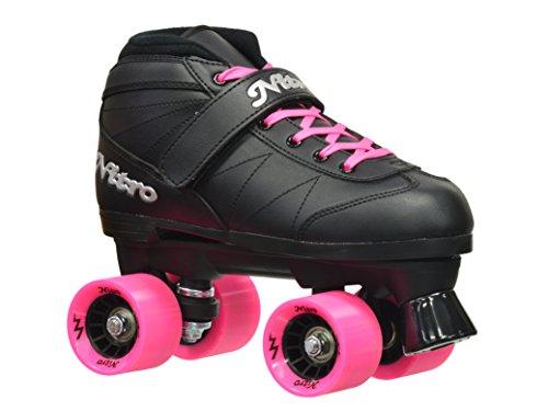 Epic Skates 2016 Epic Super Nitro 8 IndoorOutdoor Quad Speed Roller Skates Pink