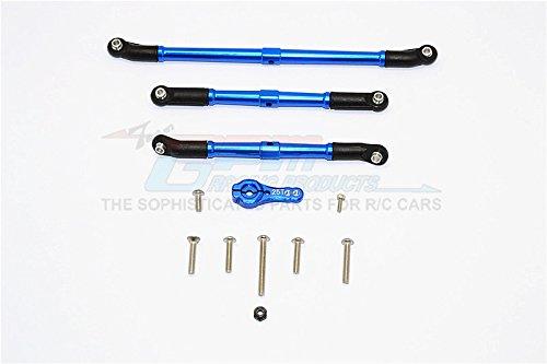 Axial SCX10 II Upgrade Parts AX90046 AX90047 Aluminum Adjustable Steering Links With 25T Servo Horn - 4Pcs Set Blue