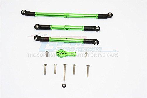 Axial SCX10 II Upgrade Parts AX90046 AX90047 Aluminum Adjustable Steering Links With 25T Servo Horn - 4Pcs Set Green