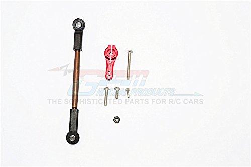 Axial SCX10 II Upgrade Parts AX90046 AX90047 Spring Steel Adjustable Servo Rod 25T Servo Horn - 2Pcs Set Red