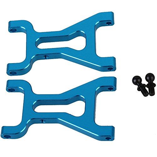 Mxfans 2 PCS Aluminium Alloy A580019 Blue Front Suspension Arm for WL A959 A969 A979 k929 RC118 Off Road Trucks Car