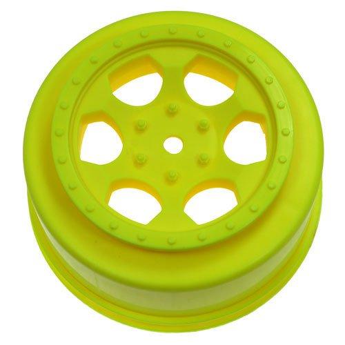DE Racing SCTA4Y Trinidad SC Wheels for Team Associated SC10 4x4 Yellow