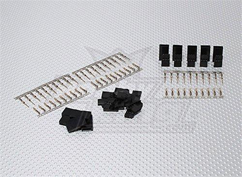 HobbyKing JST-SH Servo Plug Set Futaba Gold Plated 10pairsset
