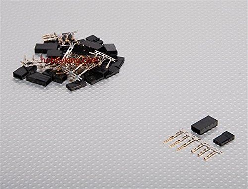 HobbyKing JST-SH Servo Plug Set JR Gold Plated 10pairsset