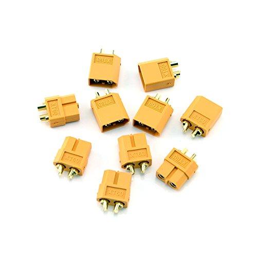 HobbyStar XT60 LiPo Battery Connectors 5 Sets Male and Female Plugs