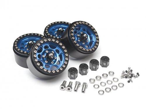Boom Racing BRW780901B Sandstorm KRAIT⢠19 Aluminum Beadlock Wheels with 8mm Wideners 4 Blue