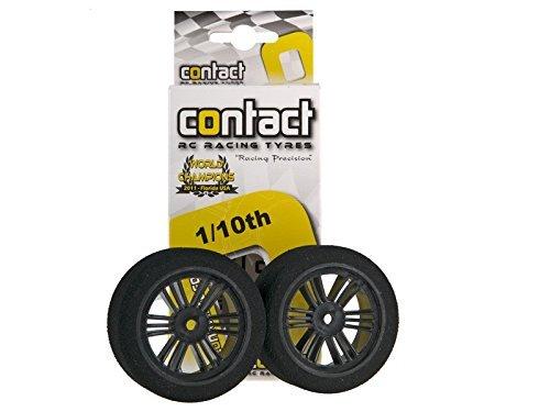 Contact RC 110 Electric Sedan Dual Foam Tires 2 Carbon Black Medium